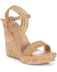 Stuart Weitzman Jezebel Wedge Sandals - Natural