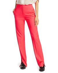 Rag & Bone Women's Jess Slim-fit Straight-leg Twill Pants - Bright Pink - Size 10