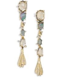 Alexis Bittar - Elements Dangling Crystal & 10k Yellow Gold Drop Earrings - Lyst