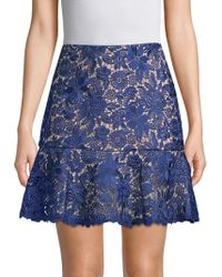 Alice + Olivia - Delma Fit-&-flare Lace Skirt - Lyst