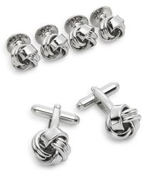 Saks Fifth Avenue Classic Knot Cuff Links - Multicolour