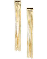 Panacea Fringed Drop Earrings - Metallic