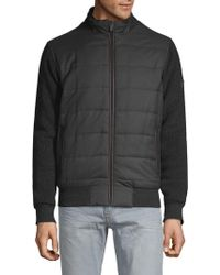 Bugatti - Quilted Sweater Jacket - Lyst