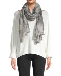 Saachi Women's Oversized Tie-dye Scarf - Gray