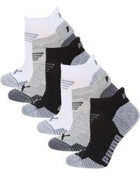 PUMA 6-pack Logo Low-cut Socks - Black