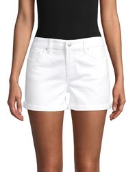 Joe's Jeans Mid-rise Denim Shorts - White