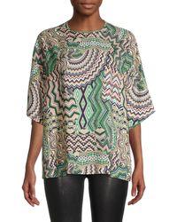 M Missoni Geometric-print Shirt - Green