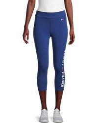 Tommy Hilfiger Logo Capri Active Leggings - Blue