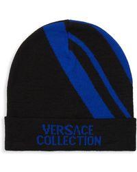 Versace - Wool Blend Intarsia Toque - Lyst