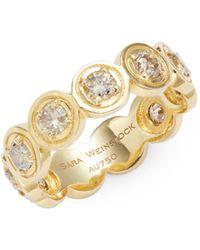 Sara Weinstock Round Bezel 18k Yellow Gold & Diamond Ring - Metallic