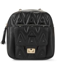 Valentino By Mario Valentino Balzac D Sauvage Studded Convertible Backpack - Black