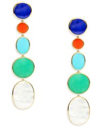 Ippolita Women's Rock Candy® 18k Yellow Gold & Multi-stone Drop Earrings - Blue