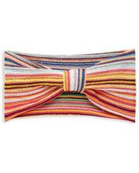 Missoni Women's Striped Knot Headband - Violet Multi - Red
