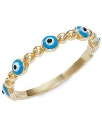 Saks Fifth Avenue Women's 14k Yellow Gold Ring/size 7 - Size 7 - Metallic