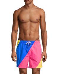 Solid & Striped Men's The Classic Colorblock Swim Shorts - Blue - Size Xl