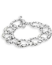 John Hardy - Kali Sterling Silver Flat Link Bracelet - Lyst
