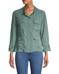 Sanctuary Women's Trellis Safari Jacket - Trellis - Size L - Green