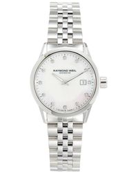 Raymond Weil Women's Freelancer Stainless Steel, Mother-of-pearl & Diamond Bracelet Watch - Metallic