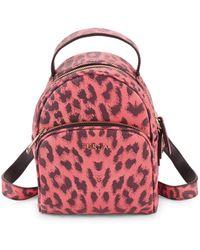 Furla - Printed Mini Leather Backpack - Lyst