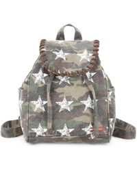 Peace Love World Small Whipstitch Backpack - Gray