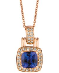 Le Vian 14k Strawberry Gold®, Blueberry Tanzanite® & Vanilla Diamonds® Pendant Necklace - Multicolor