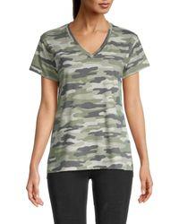 Workshop Women's Camo-print T-shirt - Green Camo - Size Xs