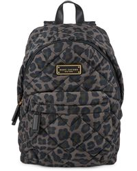 Marc Jacobs Quilted Print Backback - Black