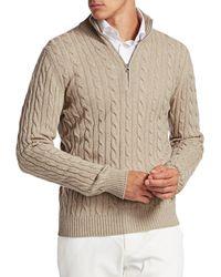 Loro Piana Men's Mezzocollo Cashmere Sweater - Flannel - Size 54 (44) - Multicolor