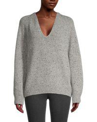 Vince Raglan Sleeve Wool-blend Sweater - Grey