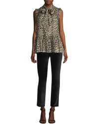 Kate Spade - Stretch Velveteen Trousers - Lyst