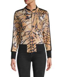 Roberto Cavalli - Women's Tiger-print Jacket - Beige - Size L - Lyst