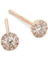EF Collection - Mini Rose Gold Stud Earrings - Lyst