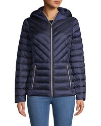 MICHAEL Michael Kors Missy Zip Packable Down Jacket - Blue
