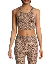 All Fenix Leopard-print Longline Sports Bra - Brown