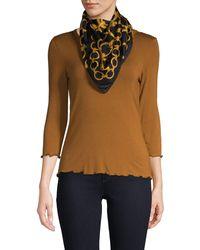 Boutique Moschino Chain-print Silk Scarf - Black