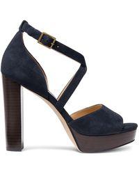 Michael Kors Marius Suede Platform Sandals - Blue