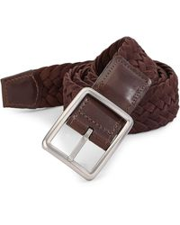 Saks Fifth Avenue - Collection Braided Reversible Buckle Suede Belt - Lyst