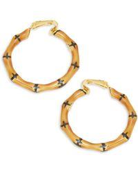 797661d85315e Lyst - Boohoo Statement Bamboo Hoop Earrings in Purple