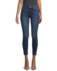 7 For All Mankind Women's Gwenevere Mid-rise Ankle Skinny Jeans - Paris - Size 23 (00) - Blue