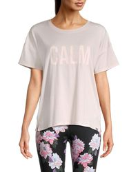 Marc New York Calm Patch Graphic T-shirt - Pink