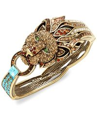 Heidi Daus Women's Goldtone & Crystal Lion Bracelet - Metallic