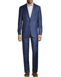 Hickey Freeman Milburn Iim Classic-fit Wool Suit - Blue