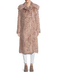 Missoni Shaggy Faux Fur Coat - Multicolour