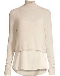 9a04ddaa2c Lyst - AllSaints Kowlo Two-piece Sweater   Slipdress in Black