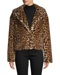 C&C California Leopard-print Faux Fur Jacket - Brown