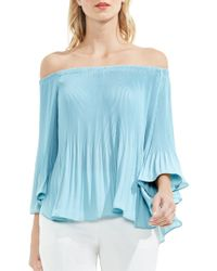 Vince Camuto - Pleated Off-the-shoulder Blouse - Lyst