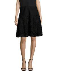 Alaïa - Rib-knit Ruffle Skirt - Lyst