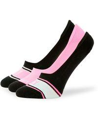 Juicy Couture 3-pack Logo Liner Socks - Black