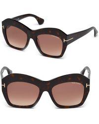 Tom Ford - Emmanuelle 54mm Round Sunglasses - Lyst