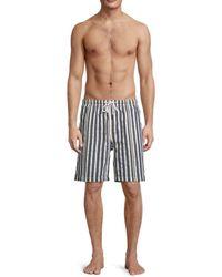 Solid & Striped Men's The California Striped Swim Shorts - Blue Cream - Size Xxl